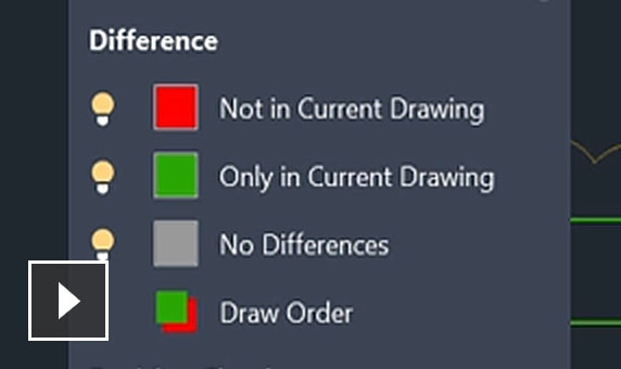 Video: Identify differences between 2 versions of a drawing or Xref