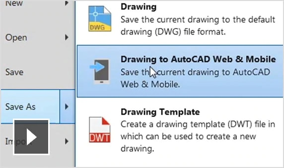 Video: View and edit drawings on the web and mobile apps