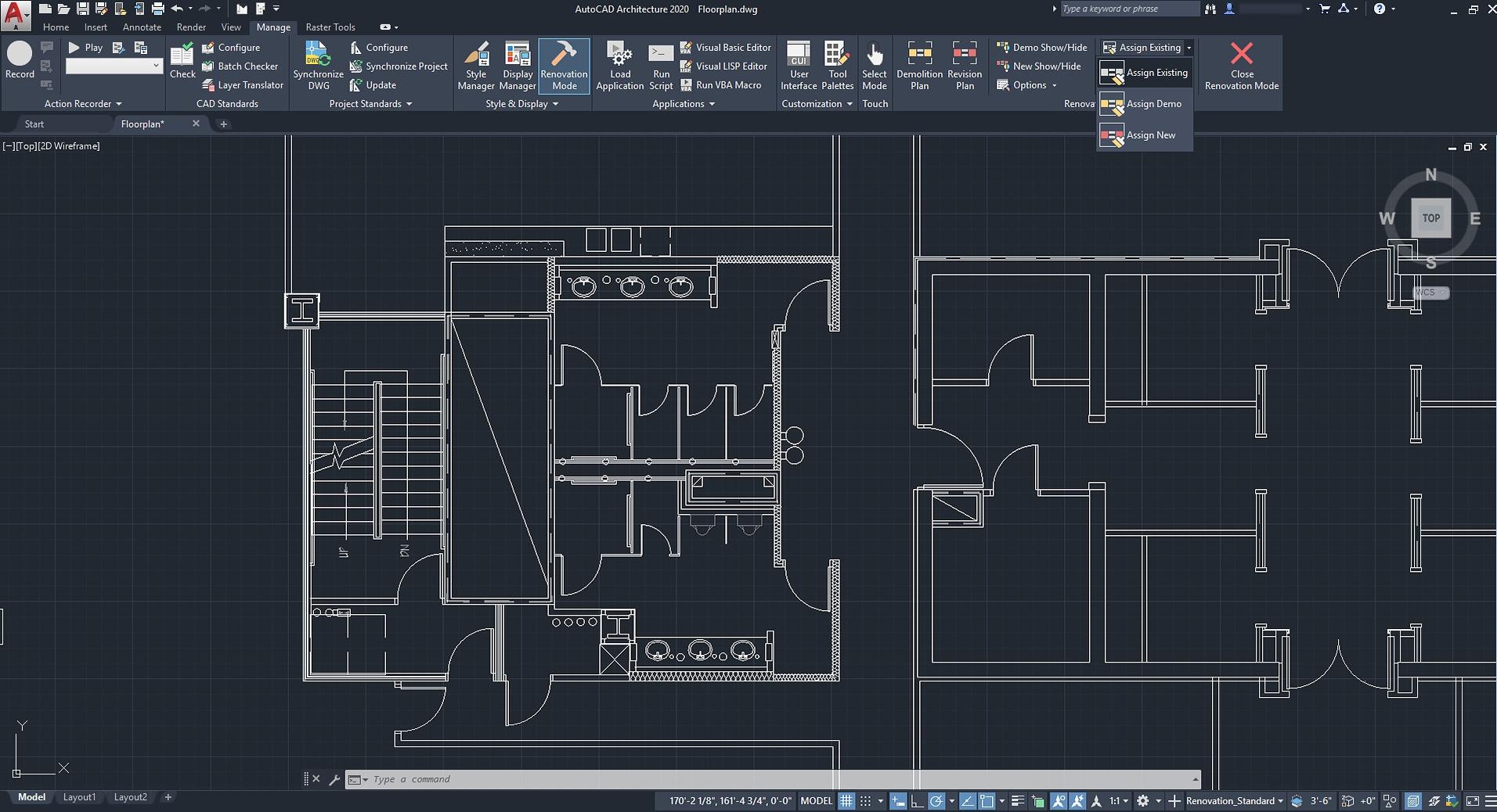 2D plan in AutoDesk AutoCAD