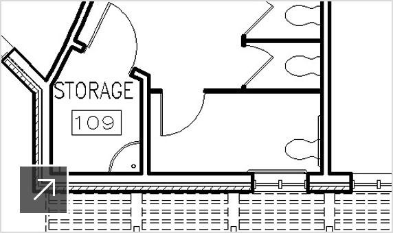 Drawing of office space in AutoCAD Architecture user interface