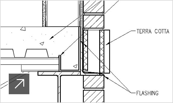 2D annotated drawing detail
