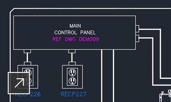 電気システムの DWG 図面