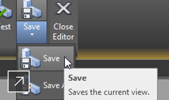 2D DWG-fil med författarpaletten öppen