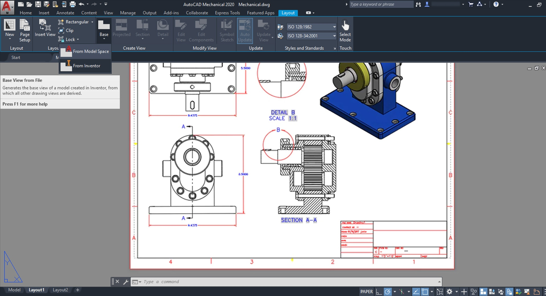 Autocad Mechanical Toolset Mechanical Design Software Autodesk
