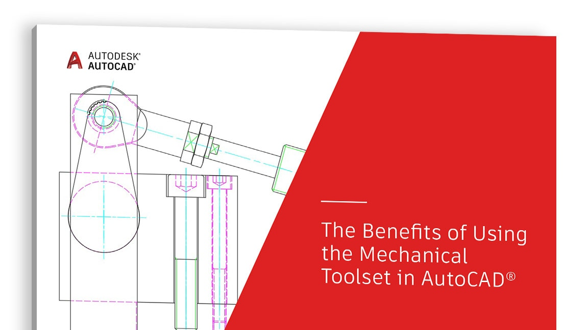 Vista de la portada del estudio «The Benefits of Using the Mechanical toolset in AutoCAD» (Beneficios de usar el conjunto de herramientas Mechanical en AutoCAD)