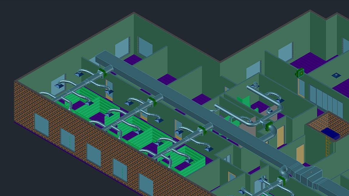 Model TZB potrubí vuživatelském rozhraní sady nástrojů