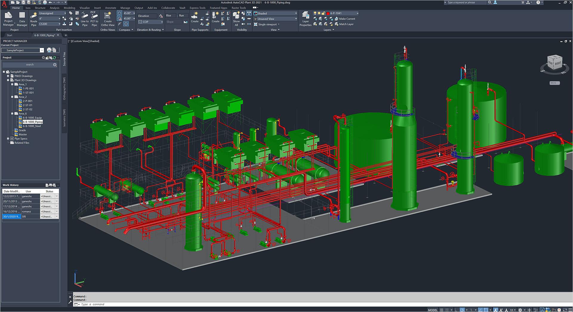 Conjunto De Ferramentas Autocad Plant 3d Software De Projecao E Layout De Instalacoes Industriais 3d Autodesk