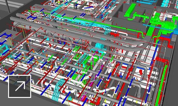 BIM-модель промышленного объекта, созданная с помощью AutoCAD Plant 3D