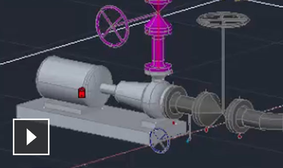 Video: 3D piping modeling ease of use