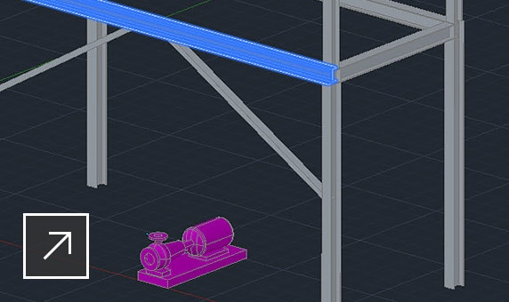 Layout of a steel structure with Plant 3D Edit Member panel open