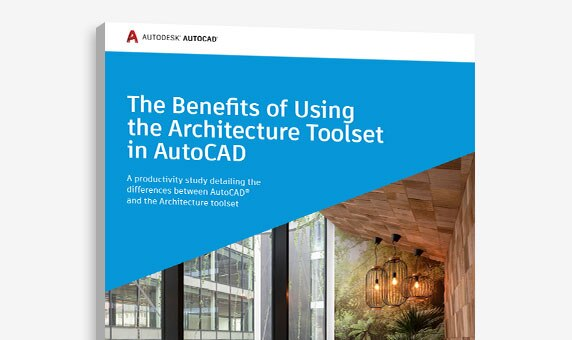 Improve your productivity with the Architecture specialized toolset included in AutoCAD 2021