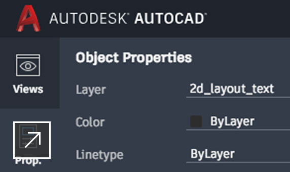View of AutoCAD web app user interface