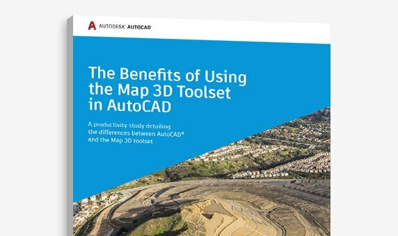 "View of the cover of ""The Benefits of Using the Map 3D toolset in AutoCAD"" study"