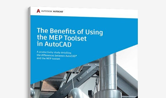 "View of the cover of ""The Benefits of Using the MEP toolset in AutoCAD"" study"