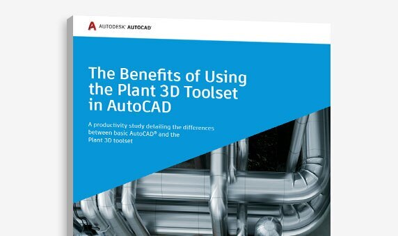 "View of the cover of ""The Benefits of Using the Plant 3D toolset in AutoCAD"" study"