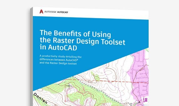 "View of the cover of ""The Benefits of Using the Raster Design toolset in AutoCAD"" study"