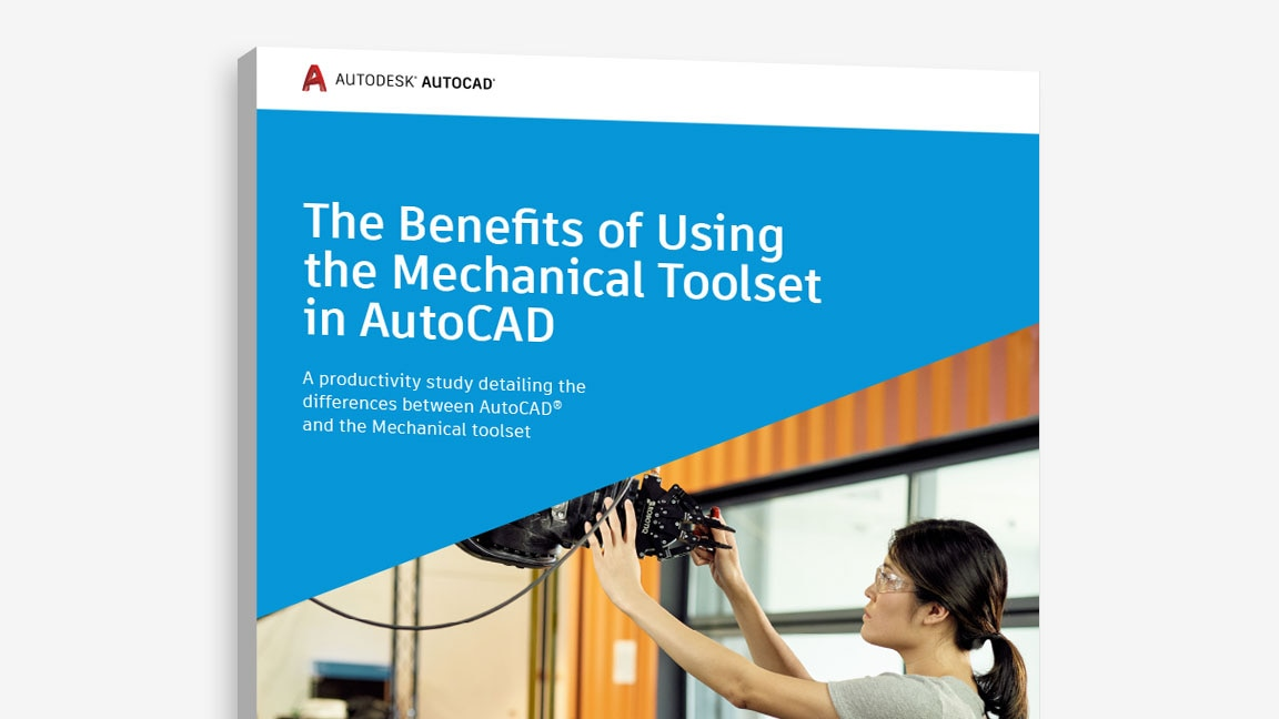 "View of the cover of ""The Benefits of Using the Mechanical toolset in AutoCAD"" study"