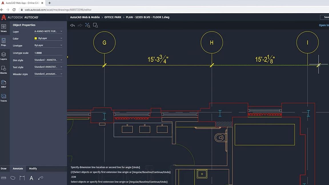 Plano hecho en autocad - mejor software para diseño de interiores