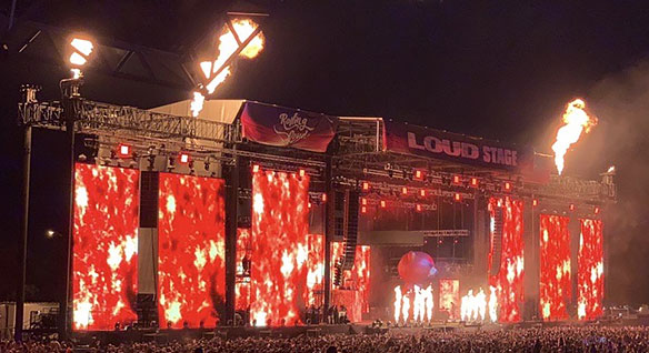 Stage and performance at Rolling Loud, the world's largest hip-hop festival