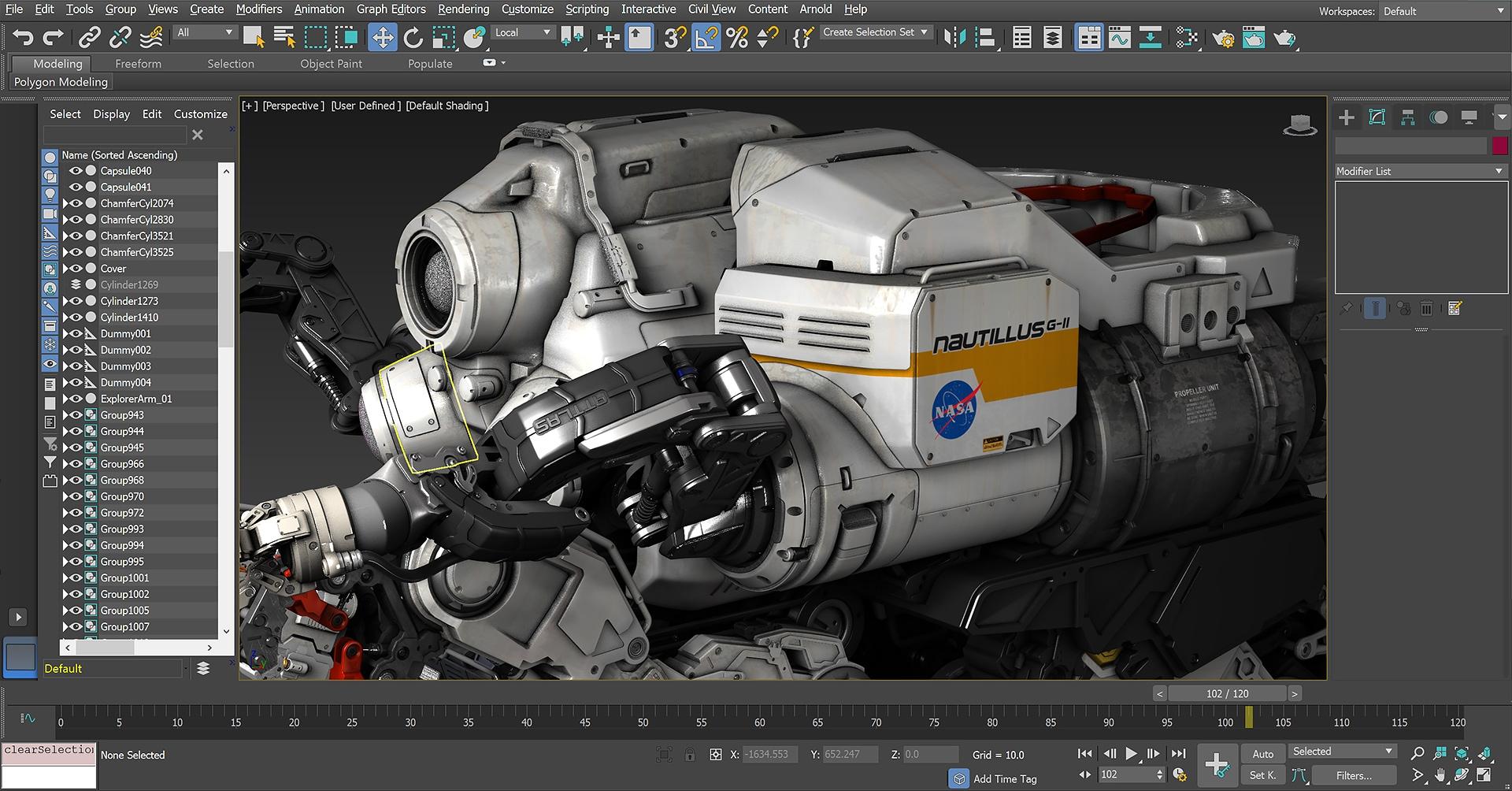 Kết xuất mô hình 3D với 3Ds Max 2019