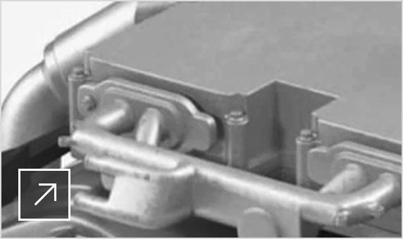 Részletes élekkel kidolgozott mechanikus motor 3ds Max-renderelése