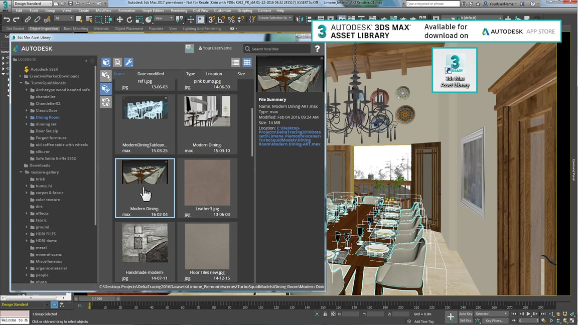 Download de Asset-bibliotheek via de Autodesk Exchange