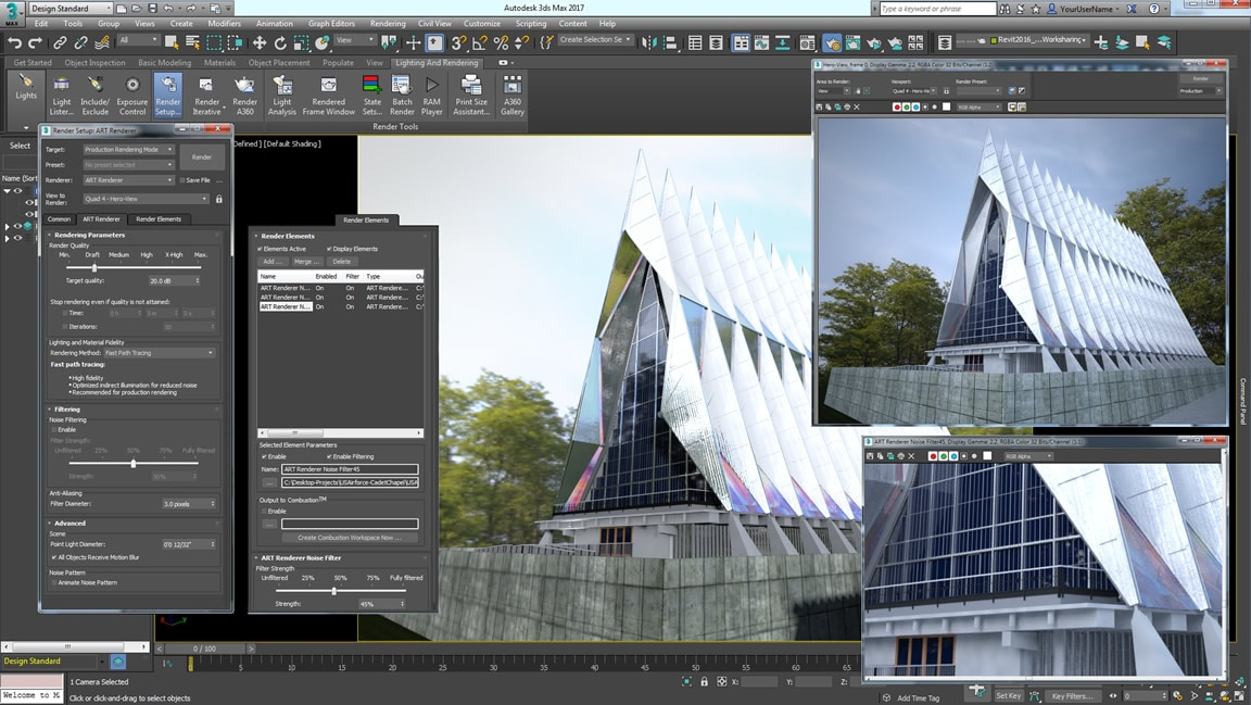 Autodesk raytracer renderer: 3D rendering and visualisation tool