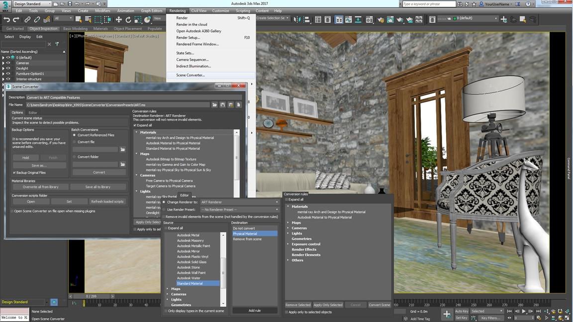 Flytt scener mellom renderingteknologier