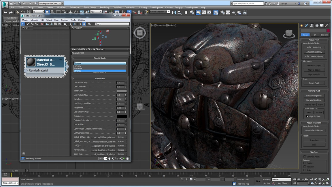 Gain better support for physically based shaders when working with Stingray through ShaderFX enhancements
