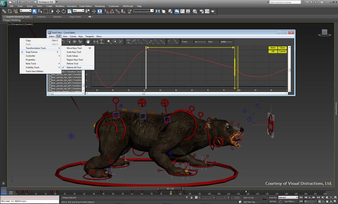 Character rigging for animating bipeds and crowds