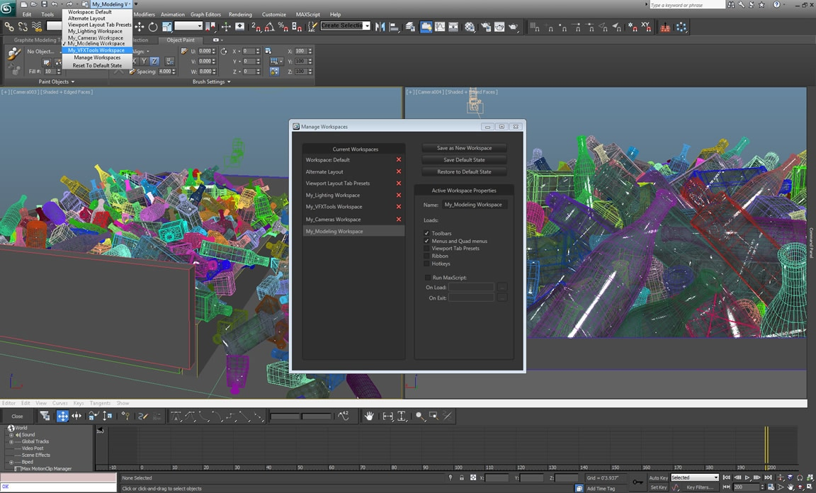 Easy 3D modeling pipeline and workflow