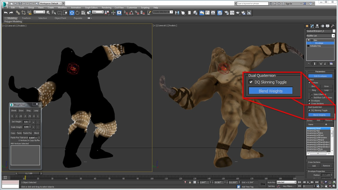Lag bedre teksturerte figurer med mer realistiske deformasjoner