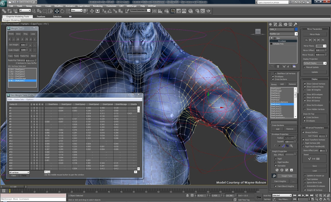 Computer animation tools in 3ds Max