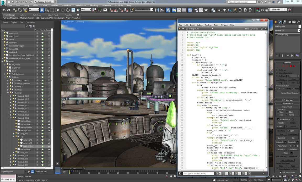 Use Python scripting to extend 3ds Max capabilities