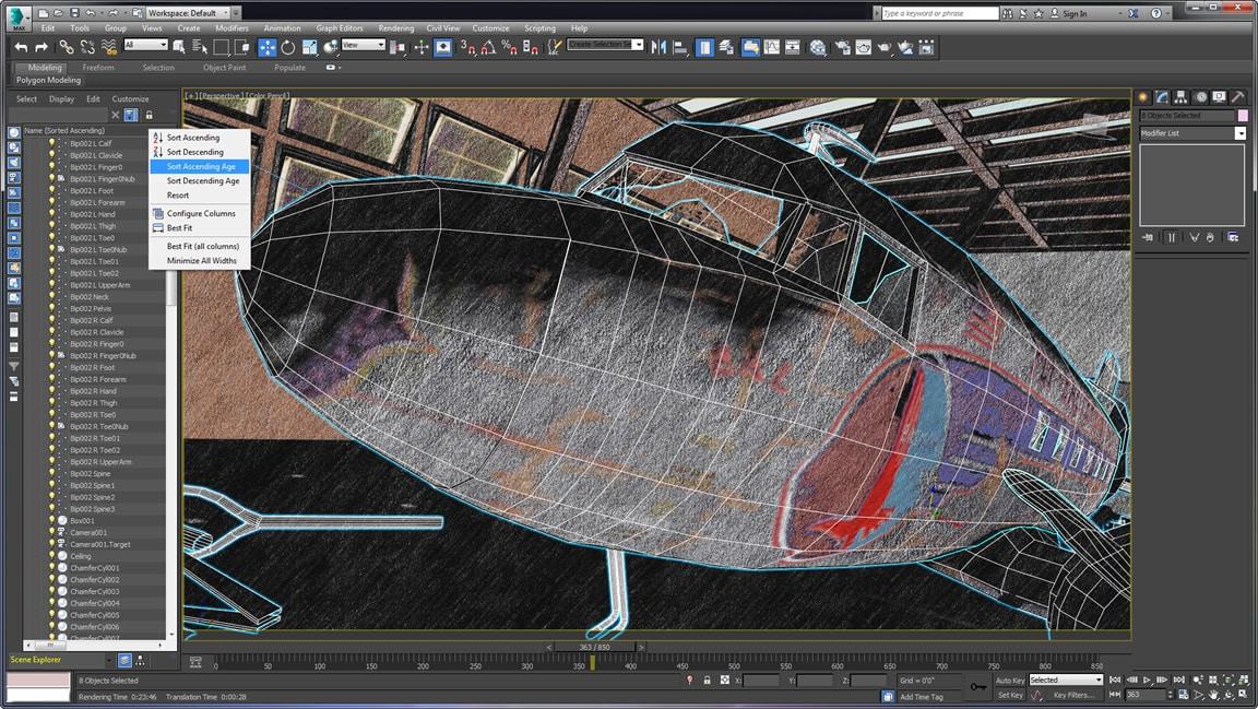 Verbesserter Szenen-Explorer und Layer-Manager