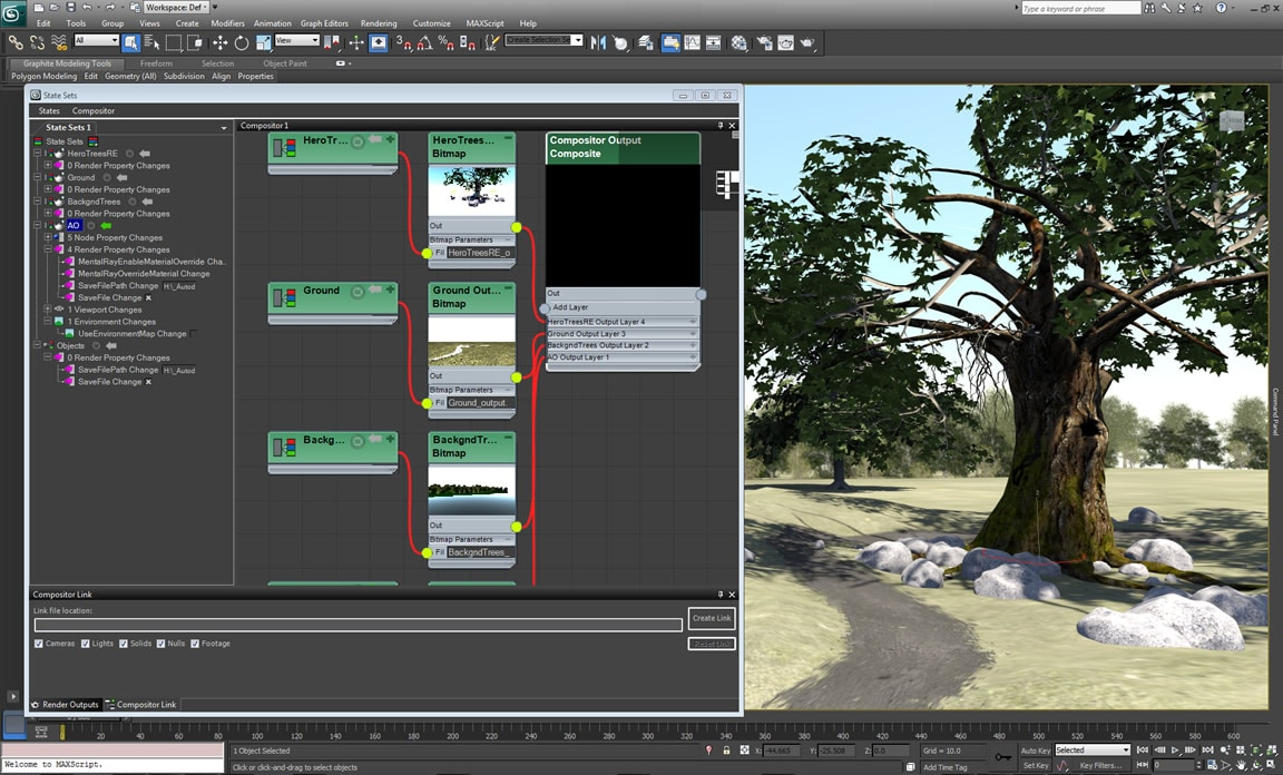 Slate compositing editor in 3ds Max