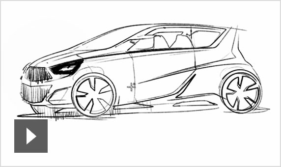 Video: How one designer uses Alias to sketch and add details to a concept for a modern, 2-door car