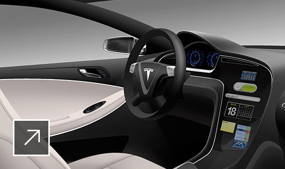 Image of automotive interior made with Alias Surface
