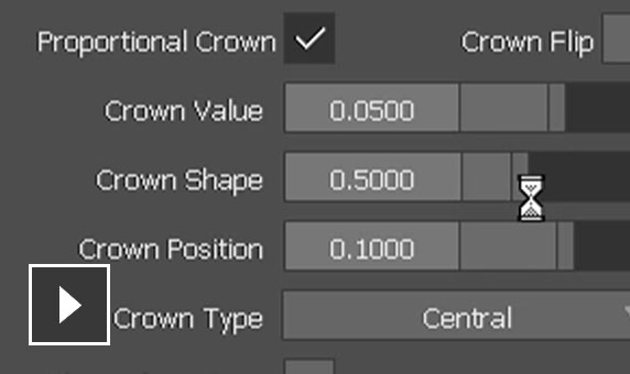 Video: Improvements to modelling tools let you have more flexibility when creating crown shapes
