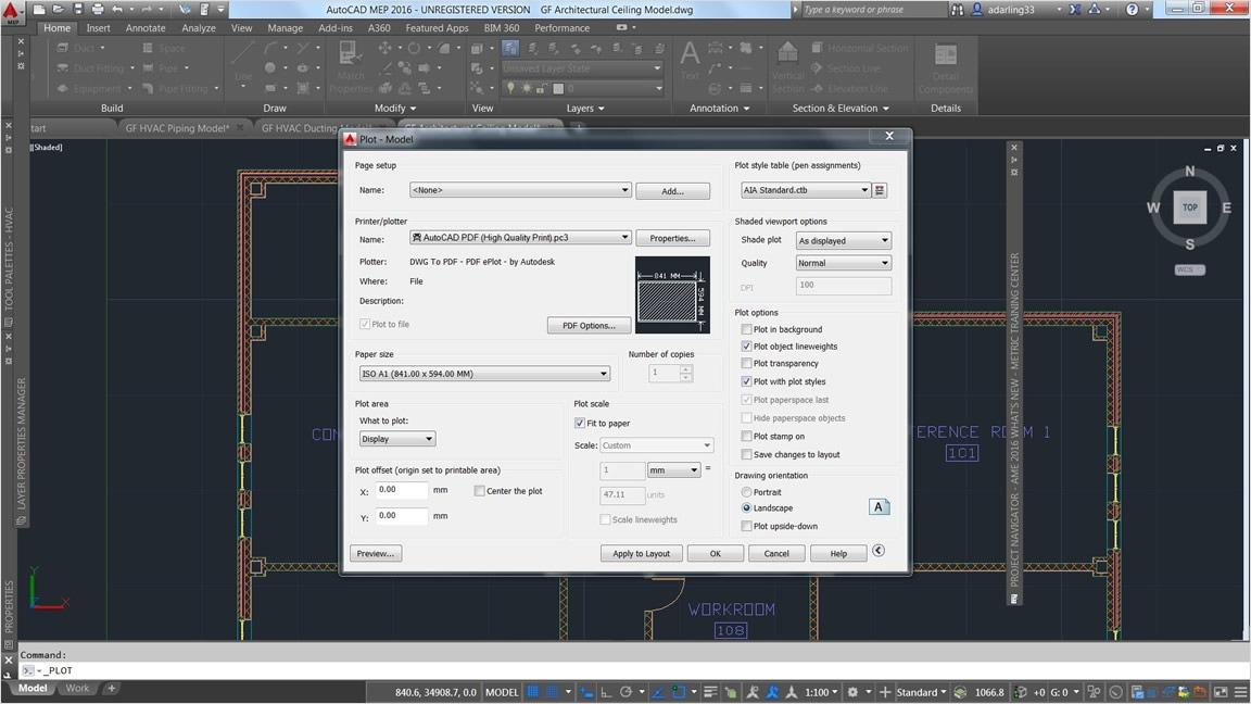 Salvataggio dei file di progettazione architettonica come PDF