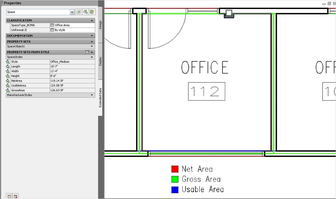 Dimensioning Room Areas Include Walls
