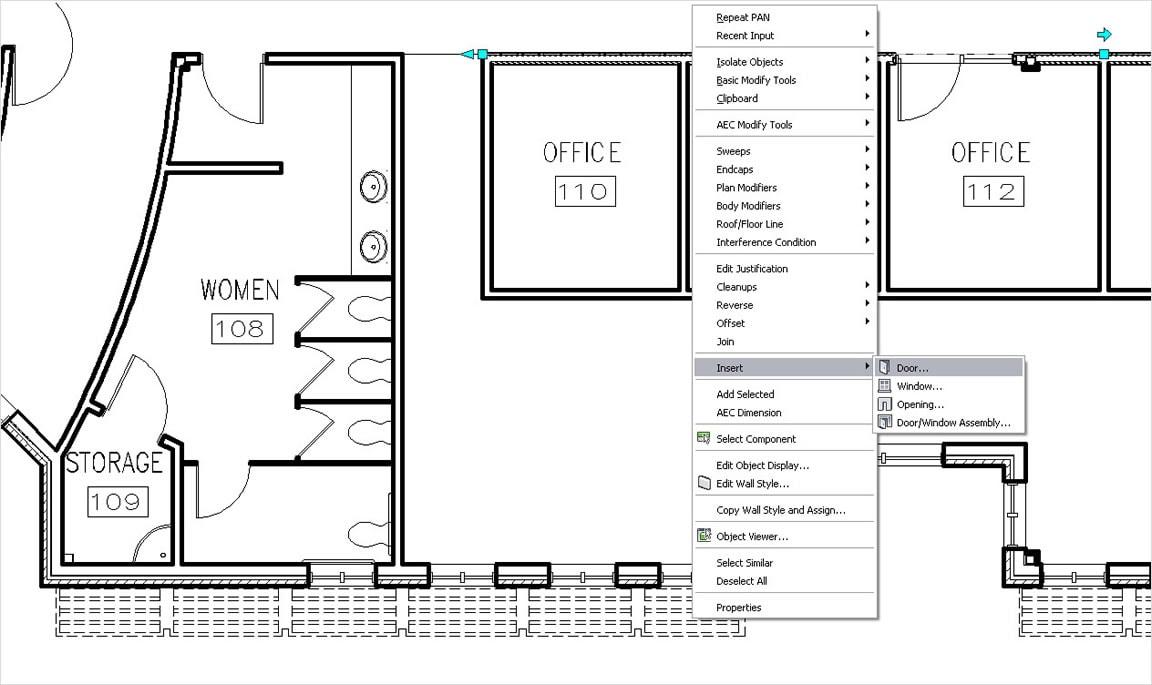 壁、ドア、および窓の作成と修正を建築設計ソフトで簡単に実行
