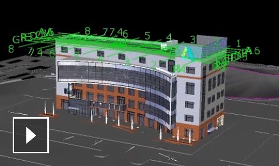 Video: Move a building model into a site design, then use the same model to visualize and analyze the design