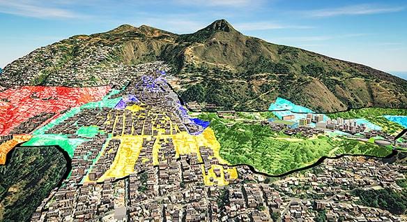 Model of site development in Medellín