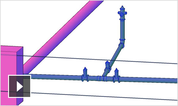 Video: Silent screencast showing use of the pressure pipe toolspace in Civil 3D