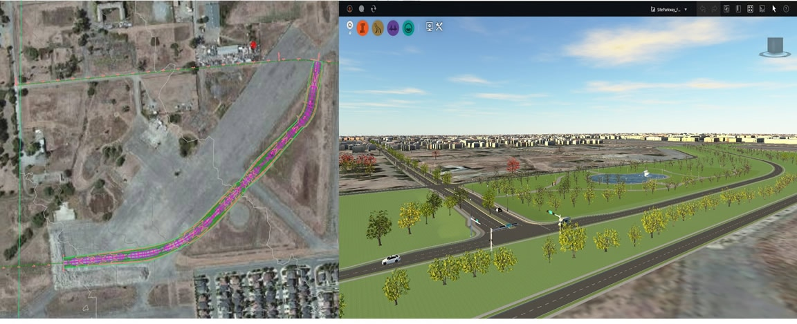 Nutzen Sie InfraWorks 360-Modelle für optimierte Tiefbau-Arbeitsabläufe
