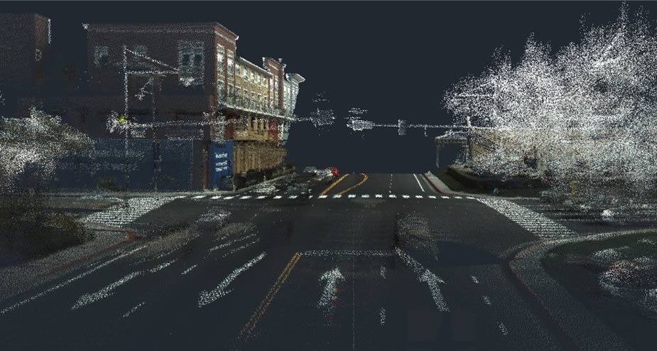 Use point cloud tools to import and visualize GPS surveying information