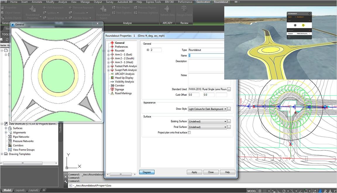 Avanceret design af rundkørsler