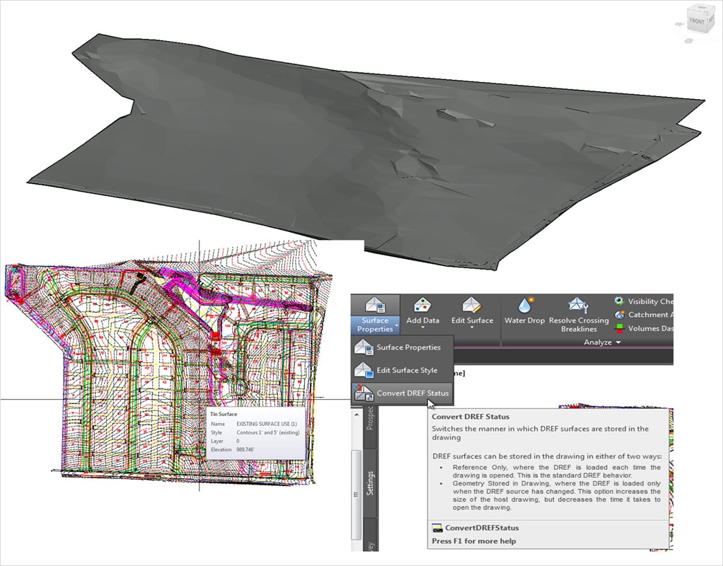 The new ability to cache DREF surfaces streamlines engineering workflows