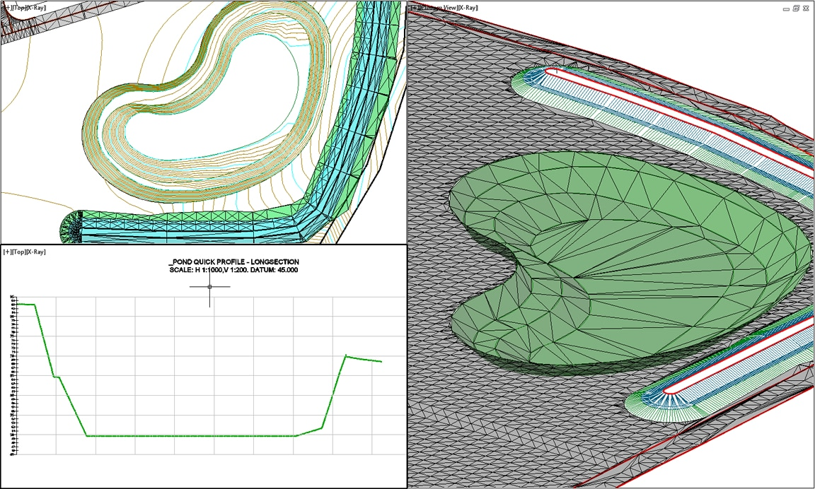 Highway design tools include terrain models for grading